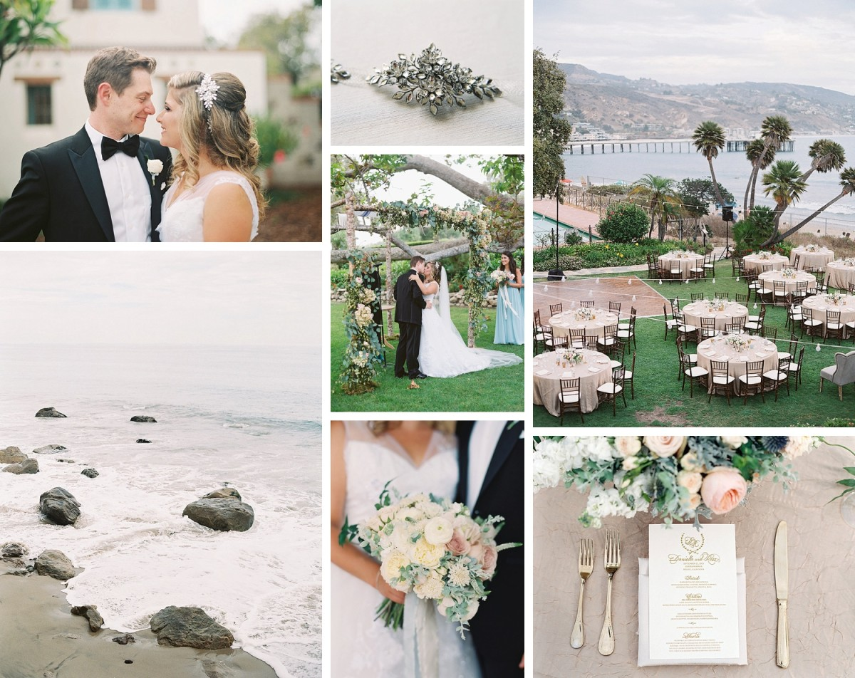 Beautiful Soft Blue Adamson House Wedding