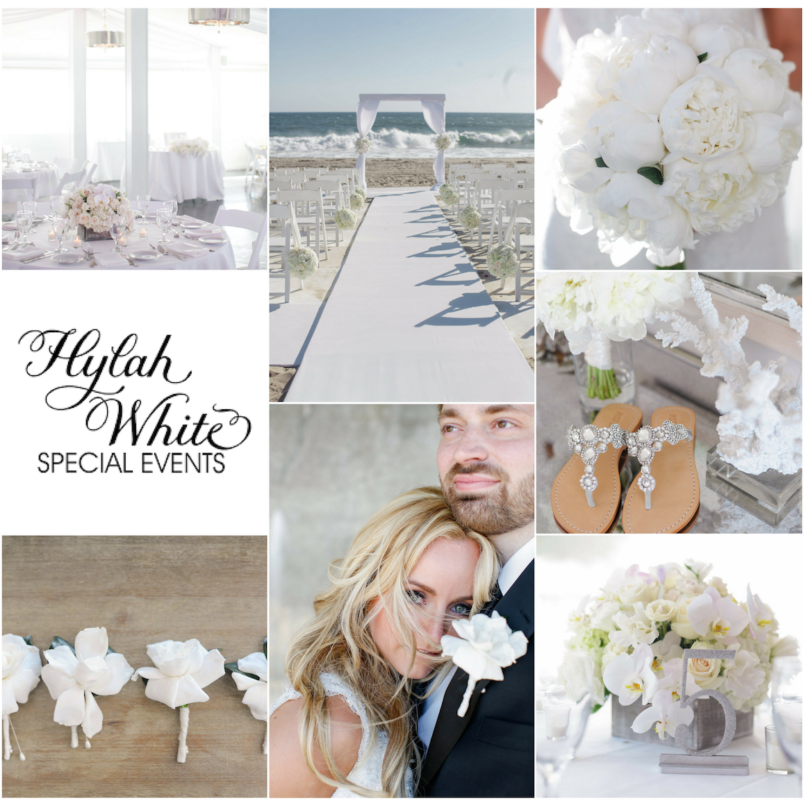 Romantic Beach Wedding, Hylah White, White Wedding, White Wedding Reception, White Beach Wedding