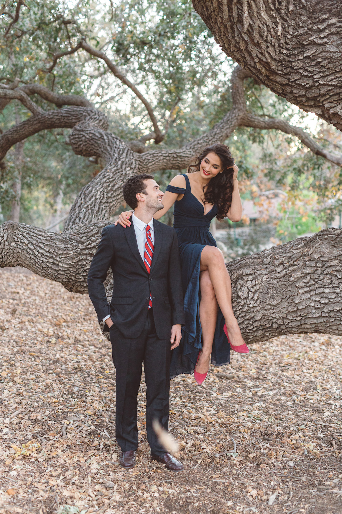 Engagement, Hylah White, Anna Delores, Outdoor Engagements, Red Shoes