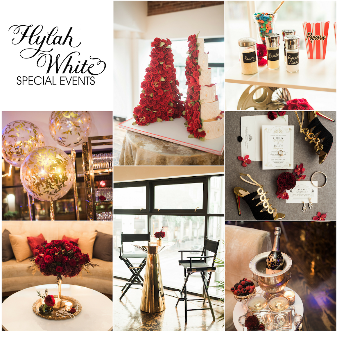 Red Gold Glamour Details California Wedding Day Hylah White Special Events