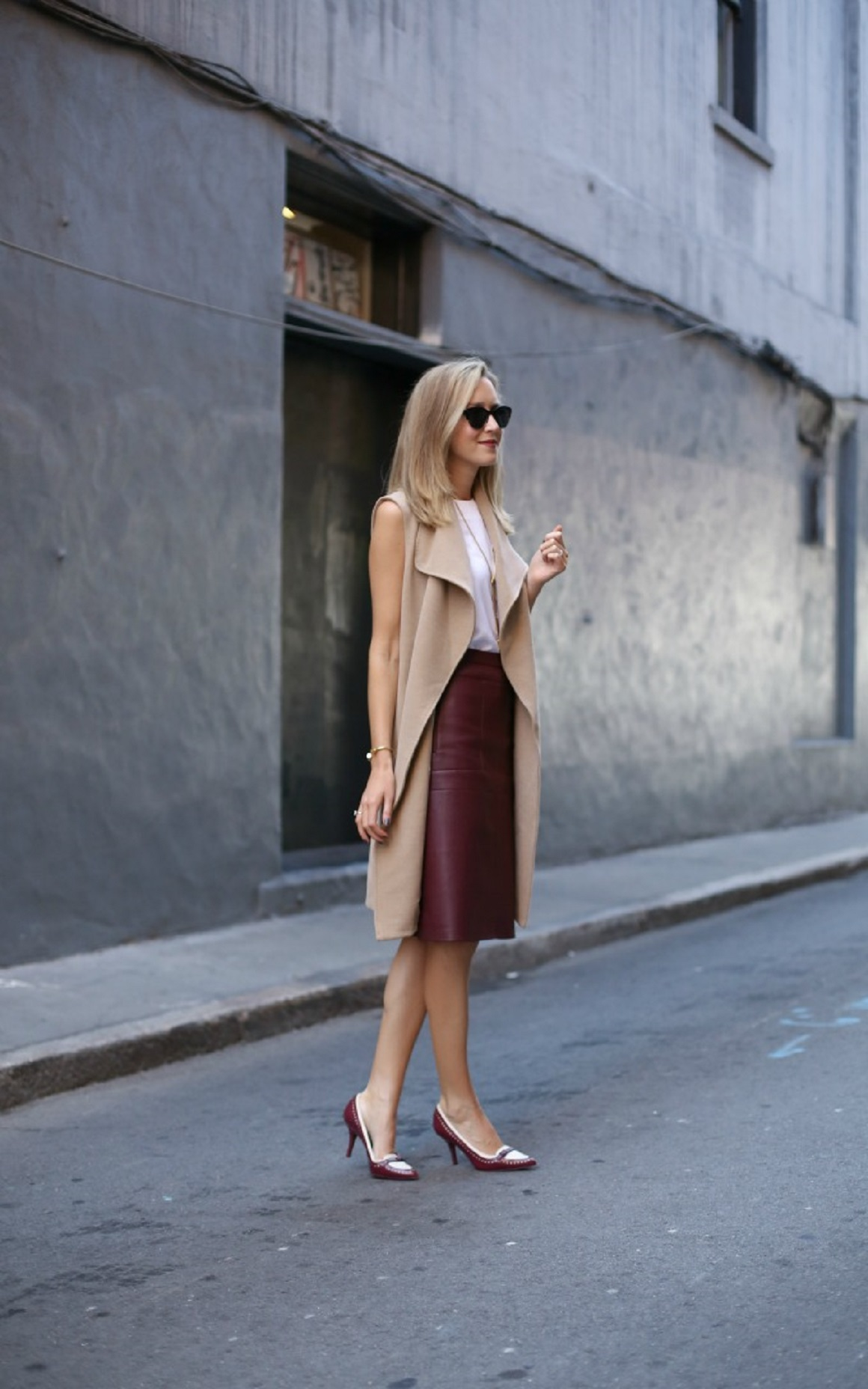 Holiday Party Style, Holiday outfits, Party attire, Holiday Fashion, Leather Skirt